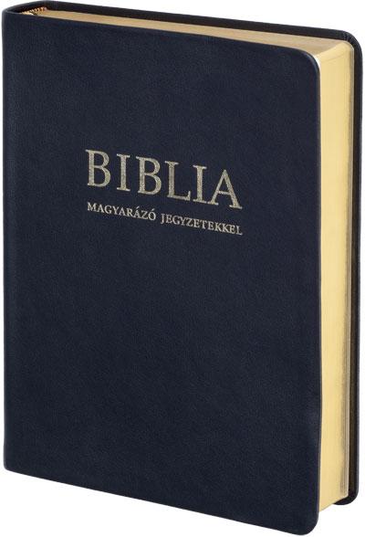 Biblia (RÚF 2014) magyarázó jegyzetekkel, bőrkötés, arany élmetszés